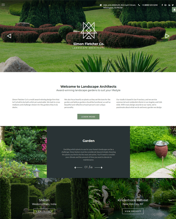 joomla templates landscapers gardeners websites