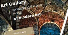 best art gallery joomla templates feature