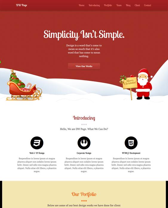 wordpress themes for christmas websites