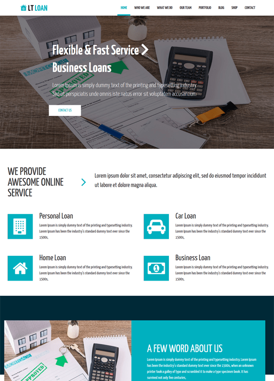 financial wordpress themes finance websites