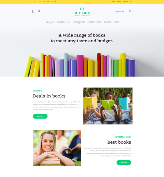 book store prestashop themes