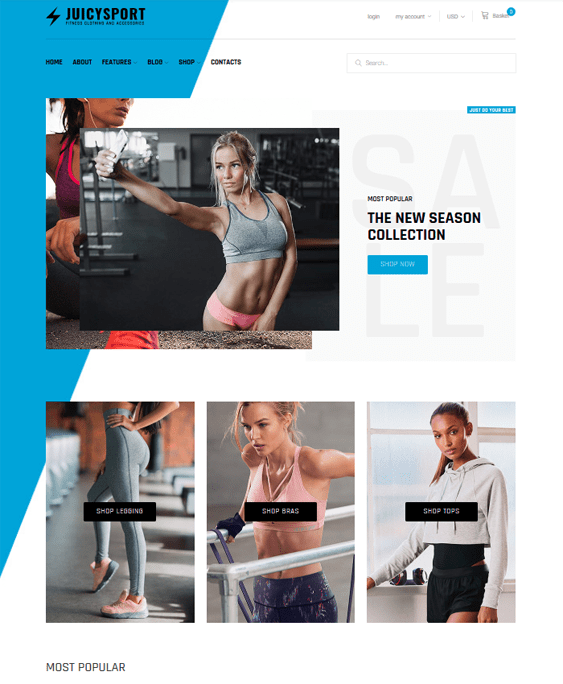 woocommerce themes for gyms and fitness stores