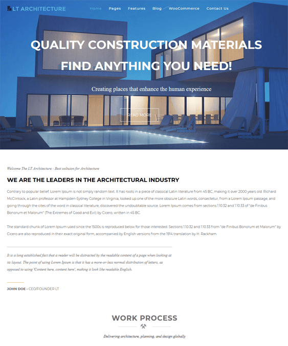 wordpress themes architects architecture firms