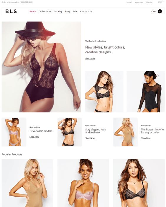 shopify themes for selling swimwear bathing suits bikinis