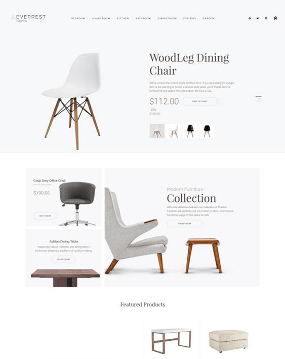 prestashop themes for furniture stores