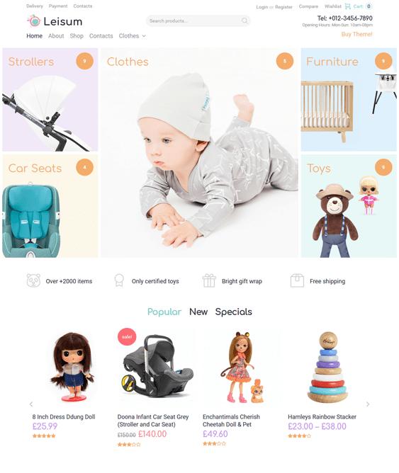 woocommerce themes kids children babies