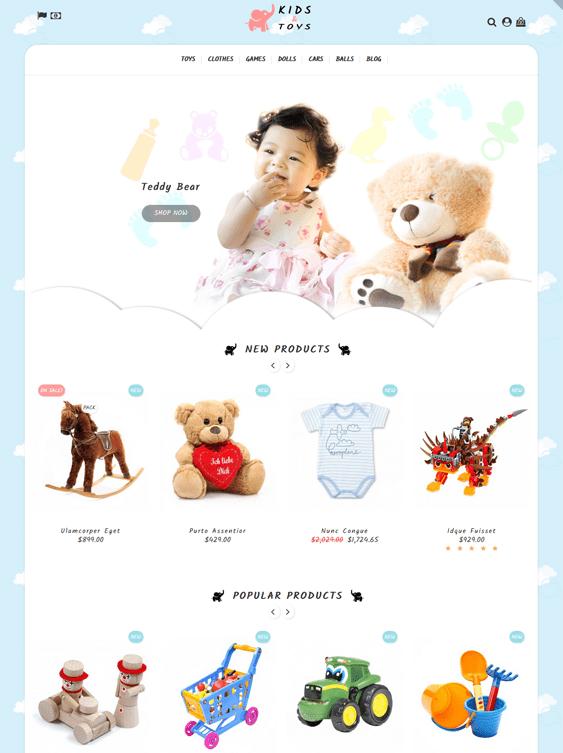 prestashop themes for kids children babies