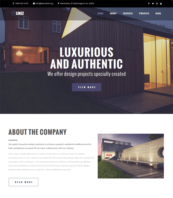 wordpress themes for architects architecture firms