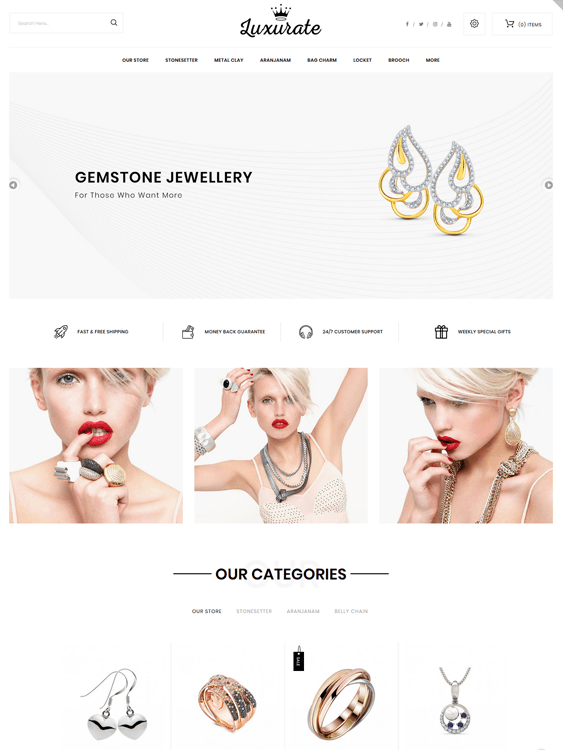 opencart themes watch jewelry stores