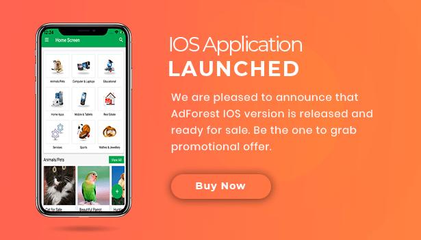 classified ios ads app