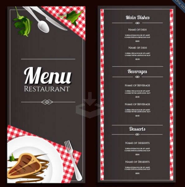 Best Menu Templates For Restaurant Templates Vip