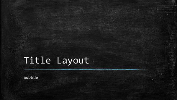 Chalkboard Education Presentation Widescreen Template For Powerpoint 2013 Inside Ppt Slides Cart