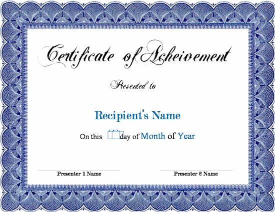 Award Template Word certificate template microsoft word – Blank Certificate Templates for Word