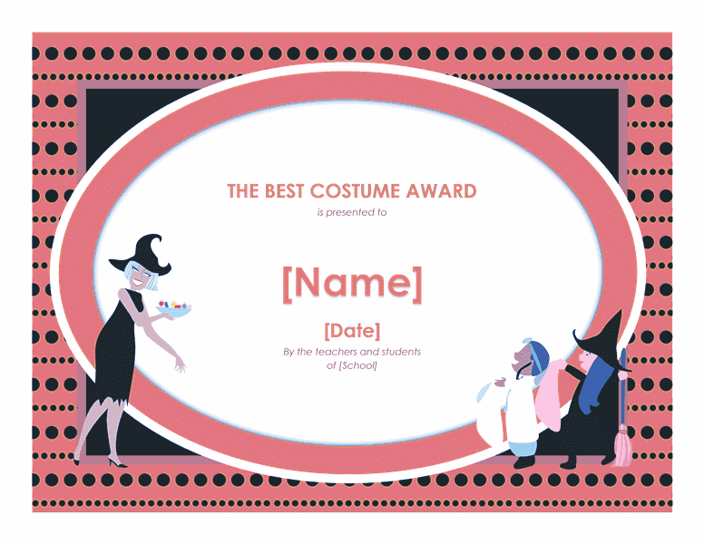 Scariest Costume Certificate Template