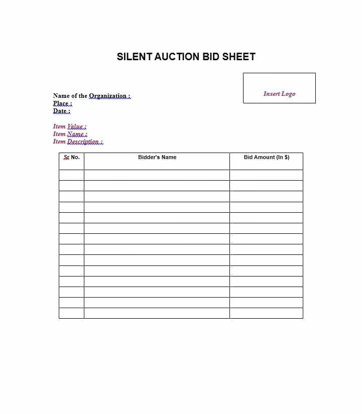 Download Template Doc  Bidding Template