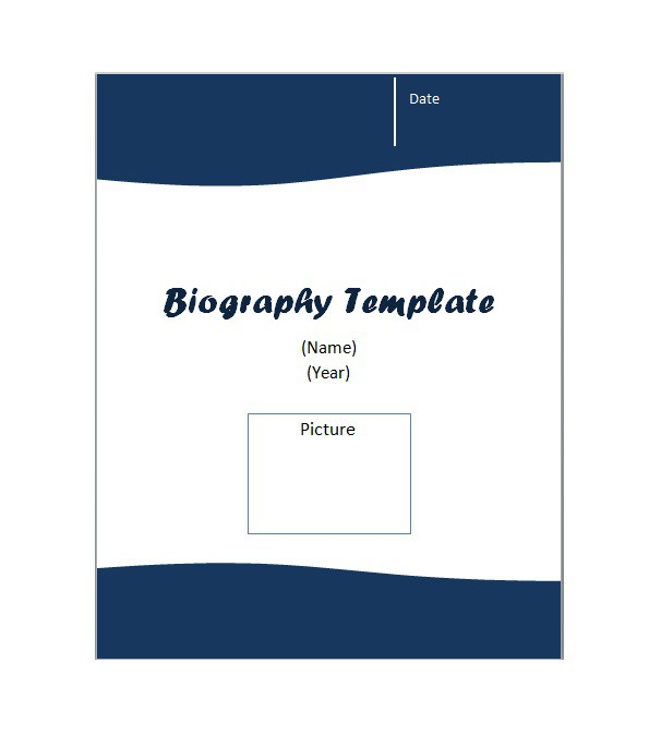 Free Biography TemplatesWord Sample Tips  Template Section