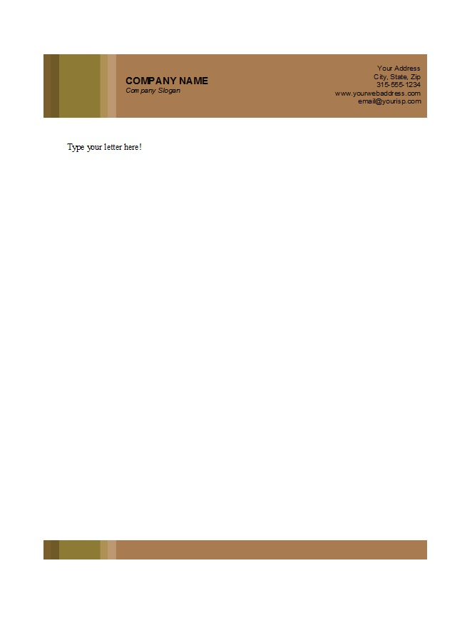 Free letterhead templates businessprofessional doc format download template spiritdancerdesigns Gallery