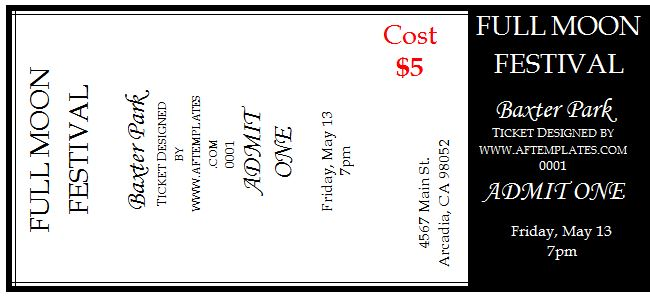 Download Template  Free Ticket Templates For Word
