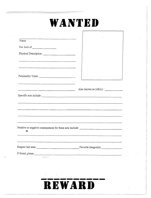 Download Template. Wanted Posters ...  Free Wanted Poster Template