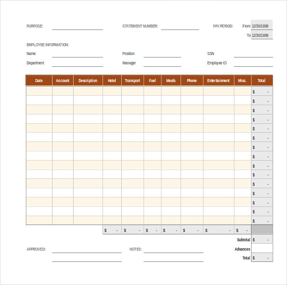 Employee Expense Report Template, Expense Report Template, Travel Expense Report Template, Business Expense Report Template, Expense Report Sample, Free Expense Report Template