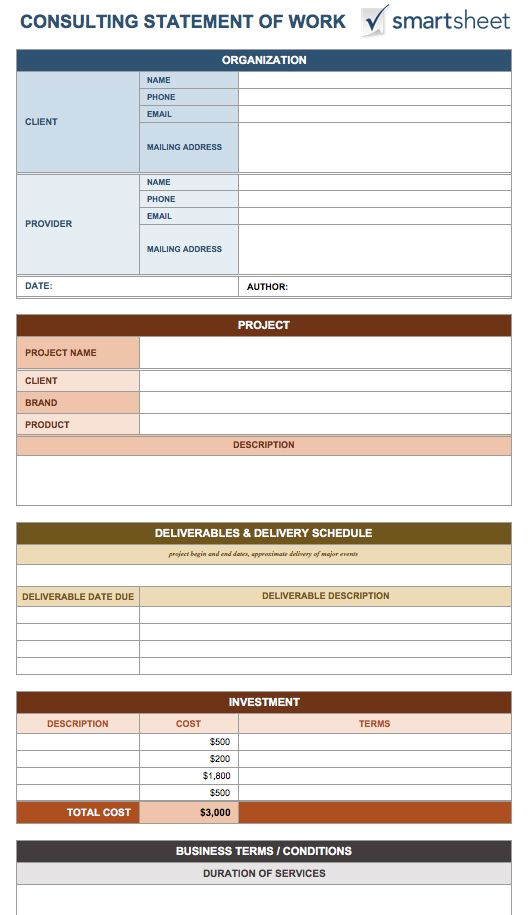 Free Statement of Work Template, Statement of Work Template, Simple Statement of Work Template, Sample Statement of Work Template, Statement of Work Template Consulting, Statement of Work Word Template