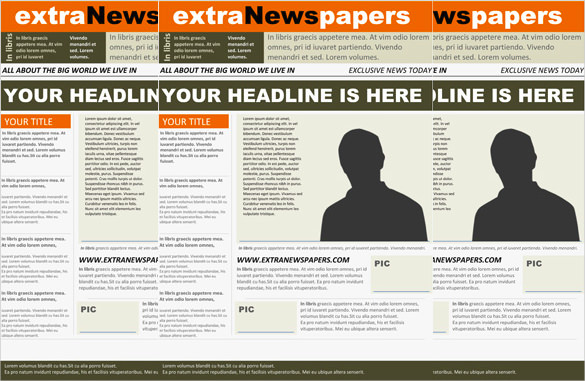 newspaper article layout template for word