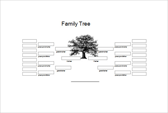 Free genogram templates 8 family word powerpoint for Genograms templates