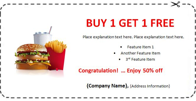 Blank coupon templates 12 gift love birthday christmas for Coupon making template
