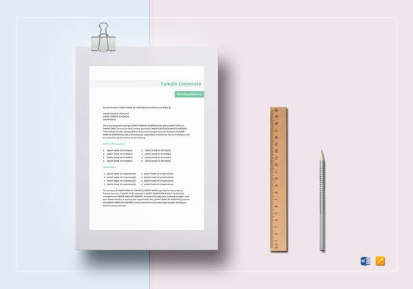 Meeting Minutes Templates - 12+ Free Word Excel Samples - Template ...