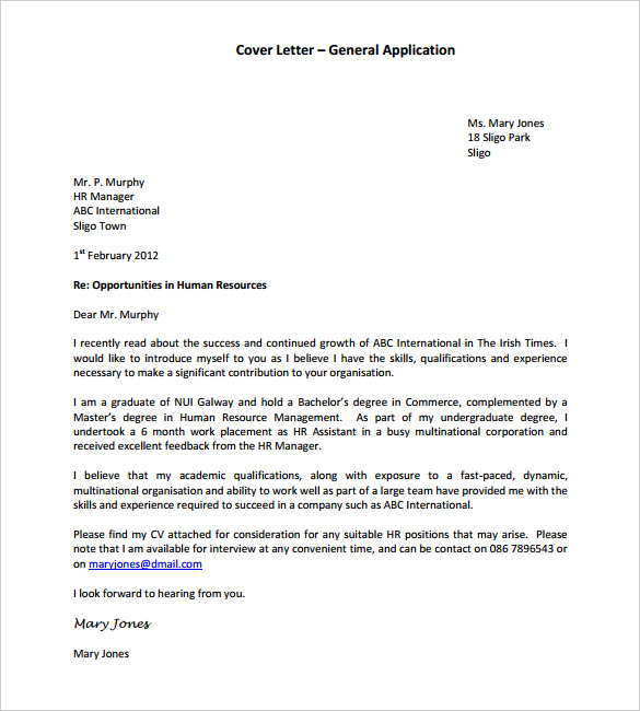 Free Cover Letter Template - 10+ Best Word Google Docs - Template