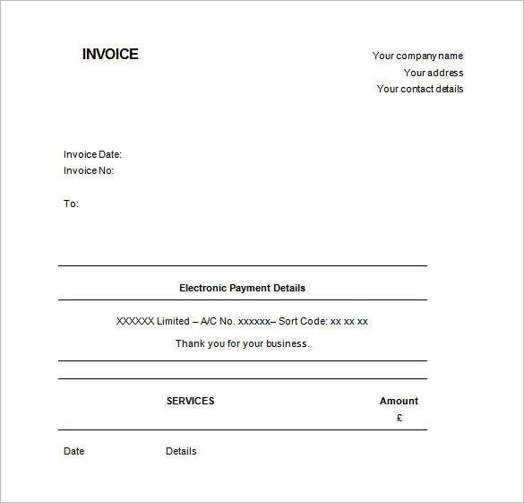 Free Printable Receipt Templates  Printable Receipt For Services