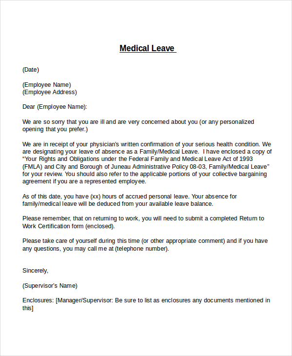 Leave of absence letter templates vacation sick paternity leave of absence letter form leave of absence letter template vacation leave letter spiritdancerdesigns Gallery
