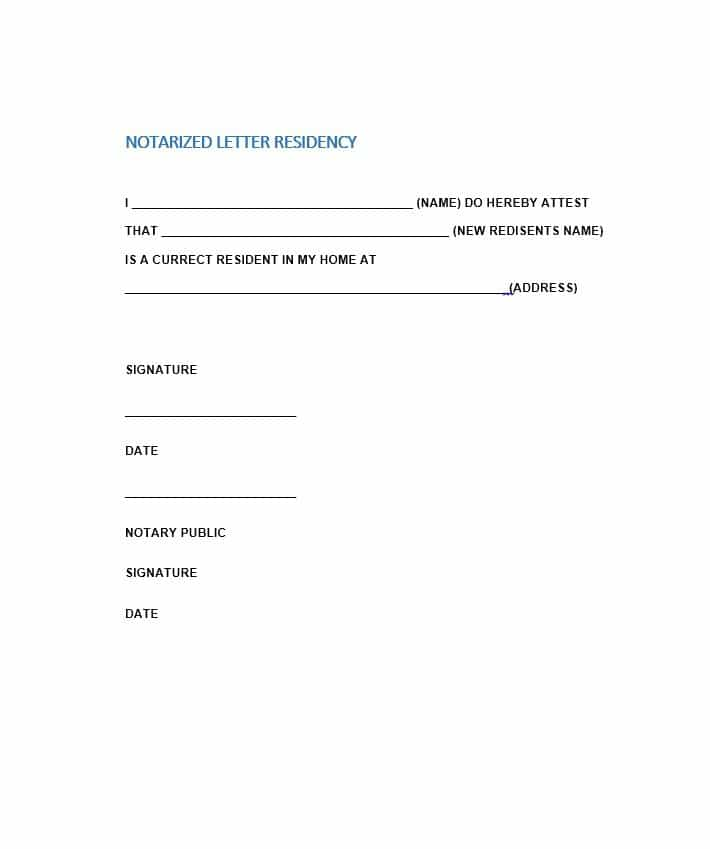 Free Notarized Letter Template Sample Format Example Template - Notary letter template