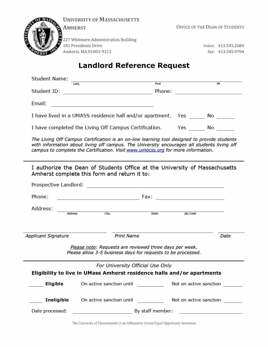 Landlord Reference Letter Samples Templates Form Examples