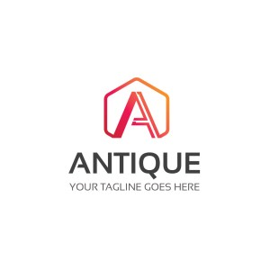 Antique PSD Logo Design Template