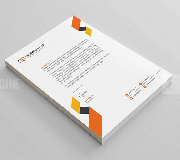 Clean Corporate Letterhead Design