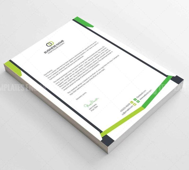 Clean Corporate Letterhead Template