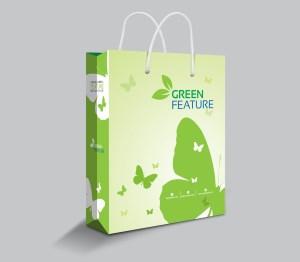 Green Future Shopping Bag Template