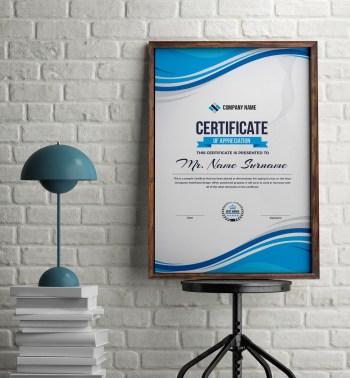 Portrait Elegant Professional Certificate Template