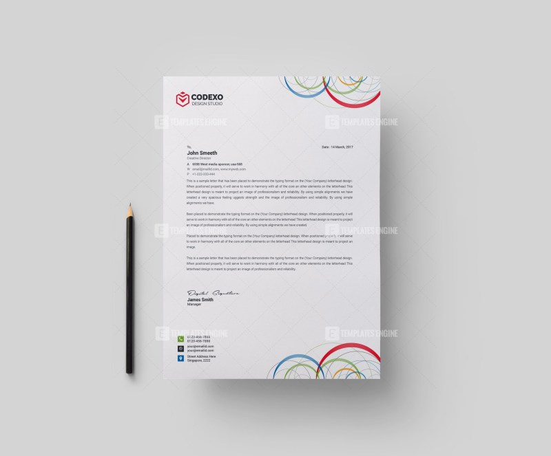 Poseidon Modern Corporate Letterhead Template
