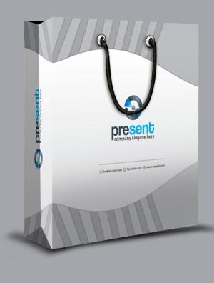 Present Stylish Shopping Bag Template