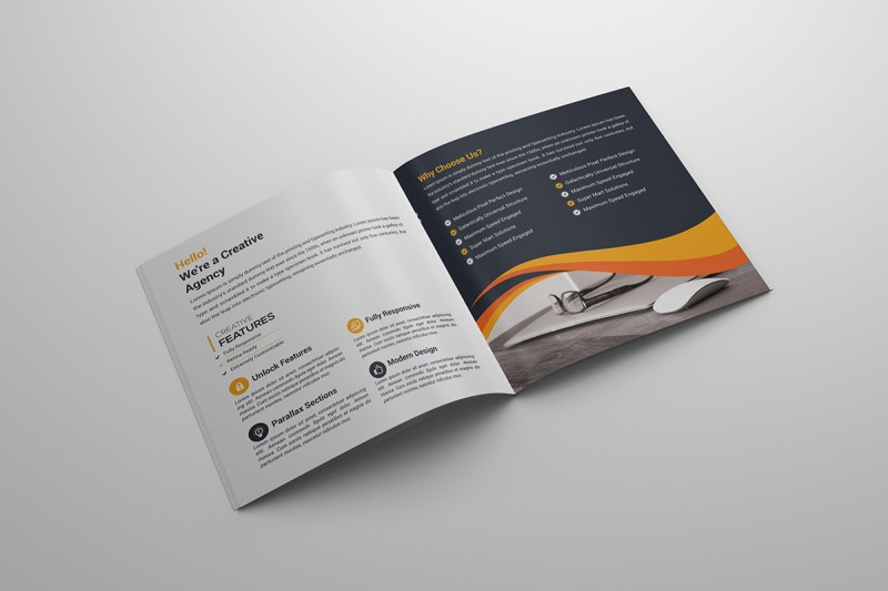 Square Bi Fold Creative Brochure Template
