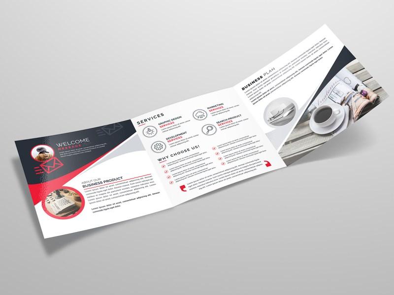 Square Tri Fold Business Brochure Template