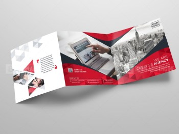Square Tri Fold Business Brochure Template