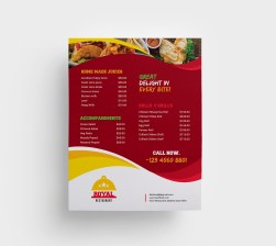 Taco Food Menu Template