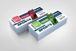 Sport Event Ticket Design