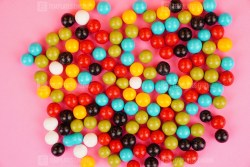 Delicious colorful candies stock image