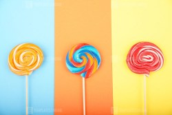 Lollypops candy in trend pastel colors