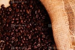 Sack bag of fresh roasted coffee