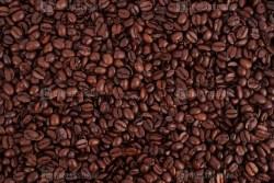 Dark brown coffee beans photo